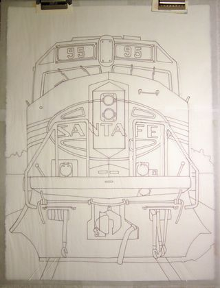 Leo's Locomotive, the drawing