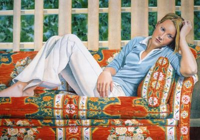 Girl on a Chinese Sofa 207